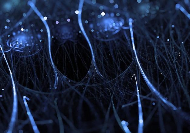 Синий веб-сети фон органические формы