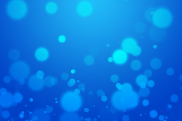 Blue bokeh beautiful blurred bright light abstract background.