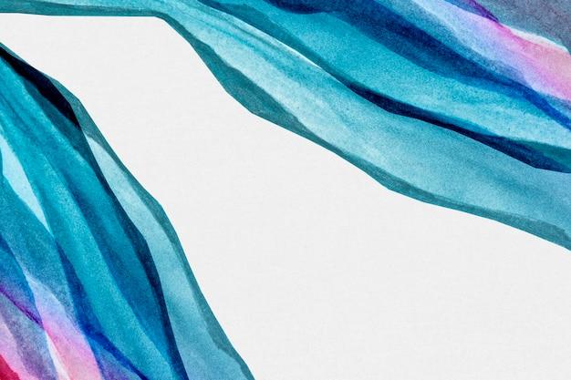 青いボーダー水彩背景抽象的なスタイル