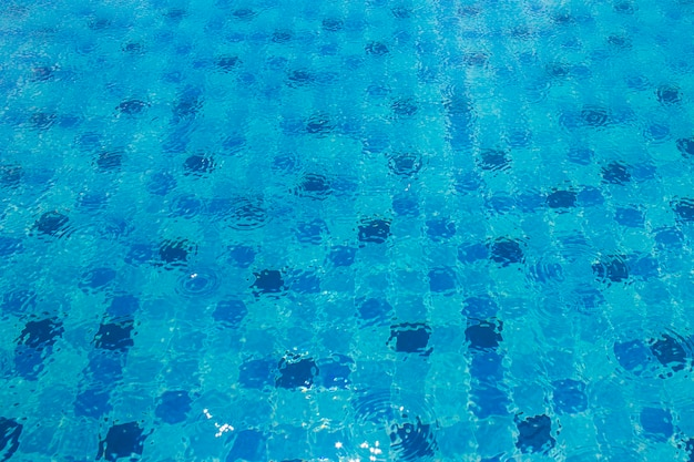 Blue bottom of a pool of water