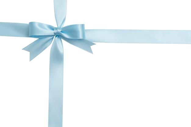 블루 나비와 리본 흰색 배경에 고립입니다. 단열재.