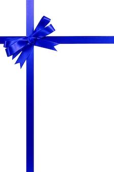 青い弓ギフトリボン背の高い垂直