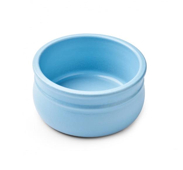 分離されたヨーグルトの青いボウル