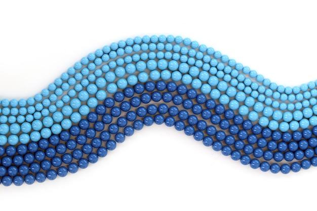 Blue bracelet on a white background
