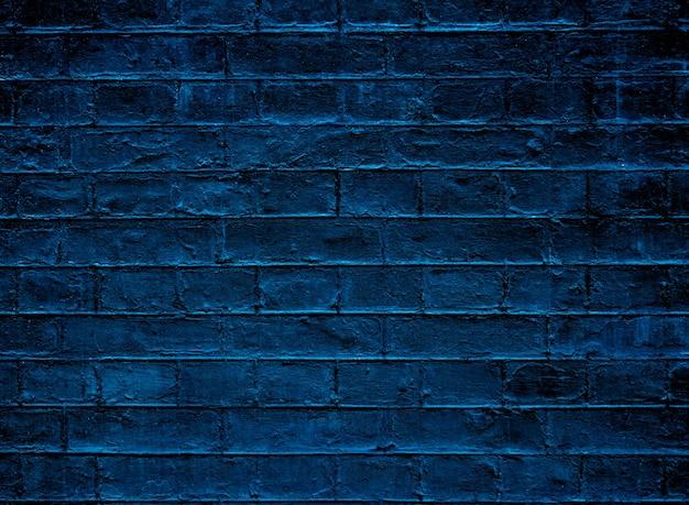 Blue brick texture wall.
