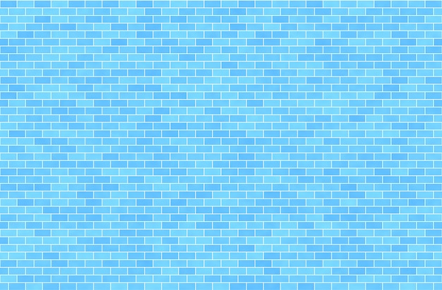 Blue brick wall, abstract seamless background