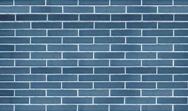 Синяя кирпичная стена фон и текстура