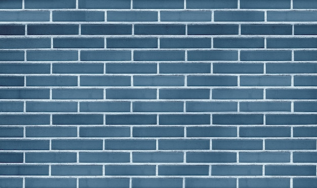 Blue brick wall background and texture