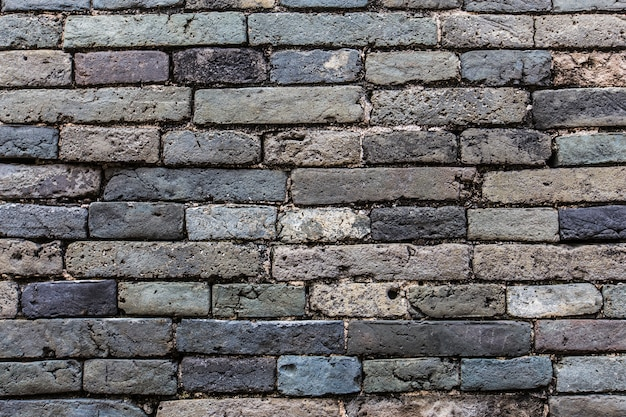 Blue brick wall close