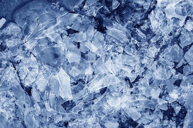 青い壊れた氷。デザインの背景 Premium写真