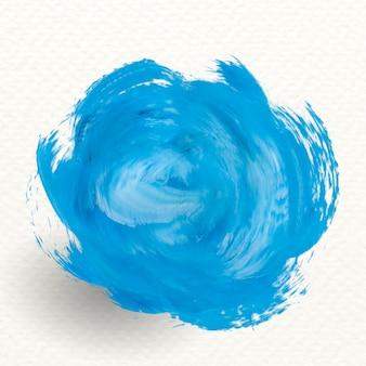 Blue brush stroke banner