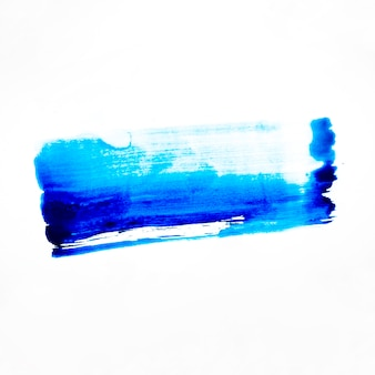Blue brushstroke on white background
