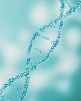 Макет молекул синий пузырь, абстрактный фон для науки или медицины. 3d рендеринг