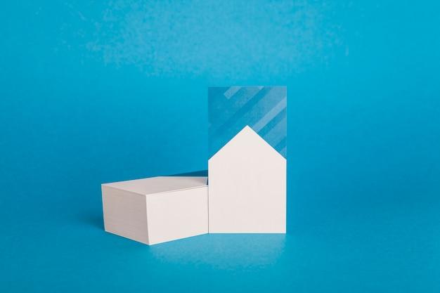 Макет синей визитной карточки