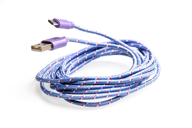 Blue cable usb bow for packing