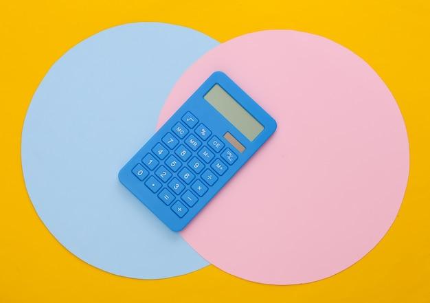 Blue calculator paper