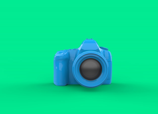 Blue camera on green screen