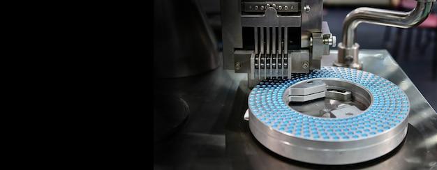 Линия по производству таблеток с синей капсулой