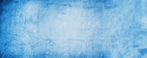 Синий цемент фон, горизонтальная пустая бетонная стена