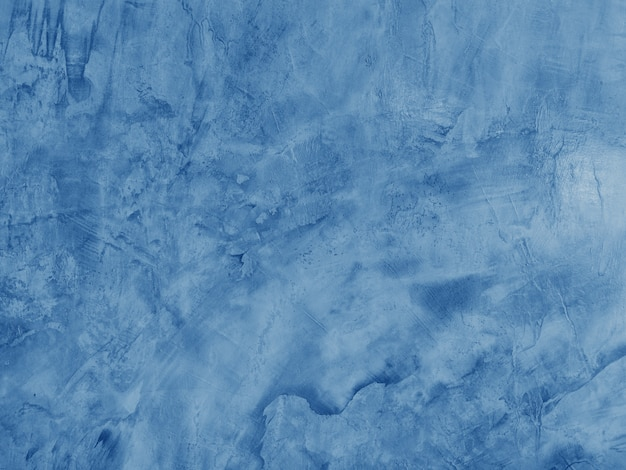Blue cement wall and grungy texture background