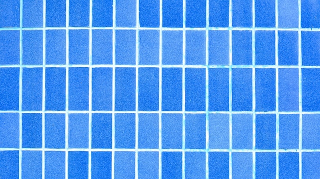 Blue ceramic tile on the wall