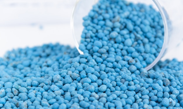 Blue chemical fertilizer