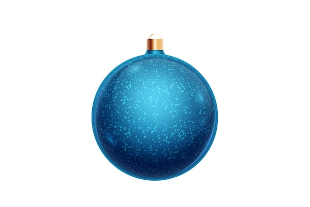 Blue christmas ball isolated on white background. christmas decorations, ornaments on the christmas tree.