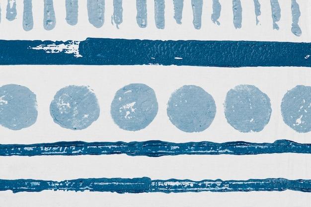 Stampe a blocchi di sfondo con motivo a cerchio blu