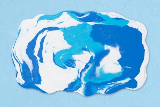Синяя глина мраморная текстура прямоугольная форма diy craft