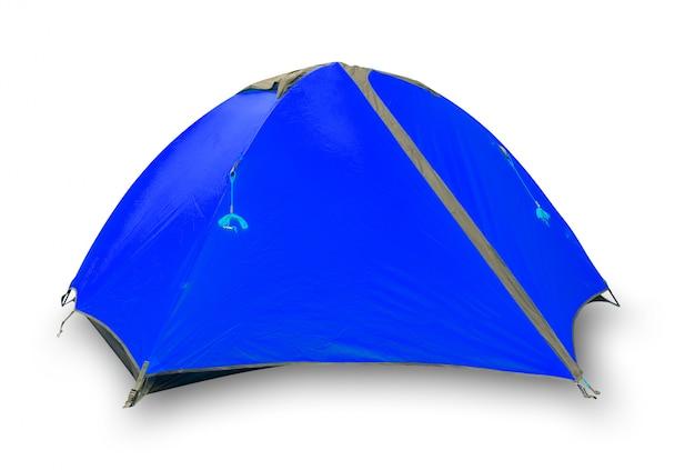 Синяя закрытая туристическая палатка