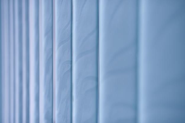 Blue closed window blinds