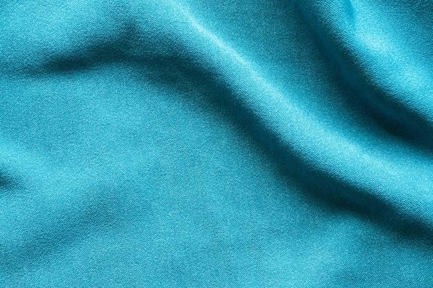 青い服生地の質感