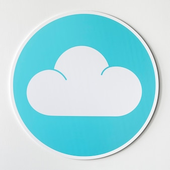 Blue cloud icon technology graphic