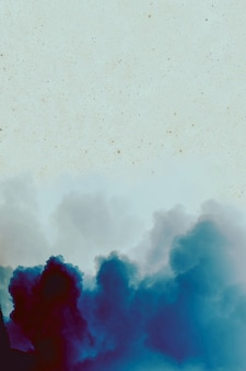 Blue clouds ink abstraction with starry sky. wallpaper for design