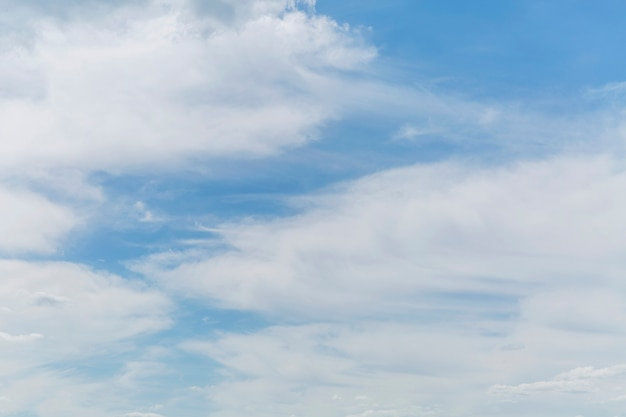 Blue cloudy sky on a clear sunny day. background. space for text.
