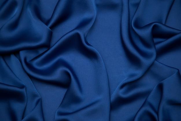 青い色のドレープ生地