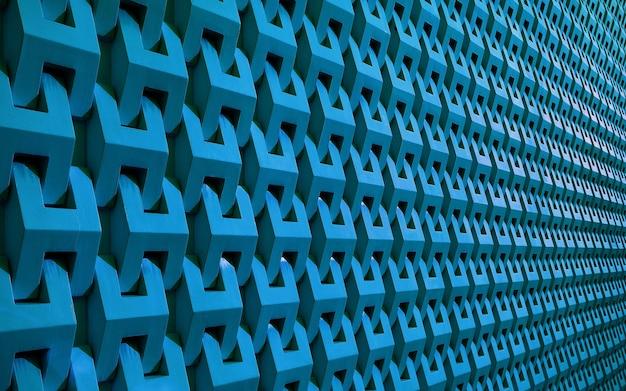 背景の遠近法で青い色の壁面