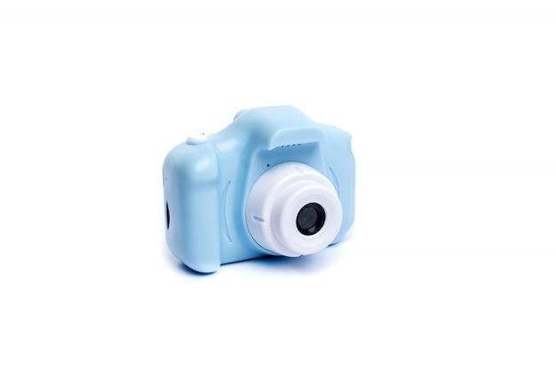Blue compact child's camera