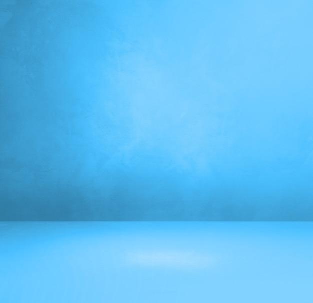 Синий бетонный интерьер фон. пустая шаблонная сцена