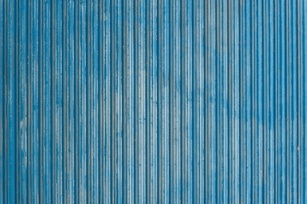 Blue corrugated surface