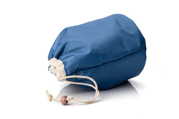 Blue cosmetic bag isolated on whitebackground