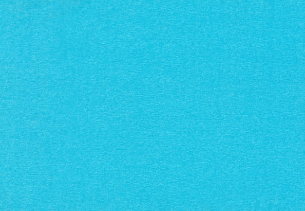 青いクレープ紙の背景。