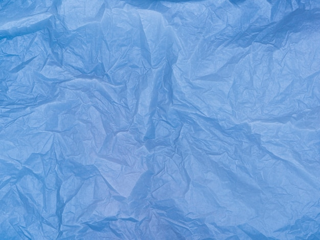 Blue crumpled paper material