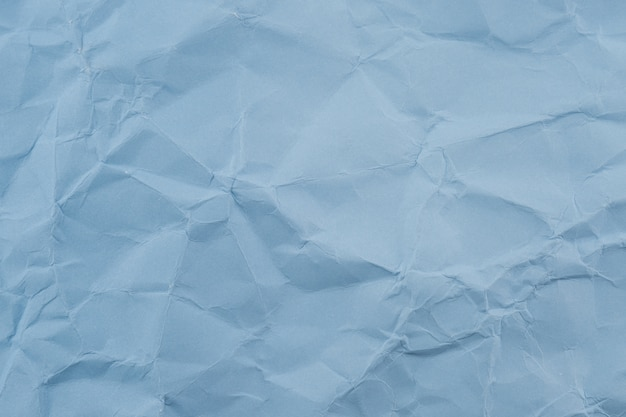 Blue crumpled paper texture background