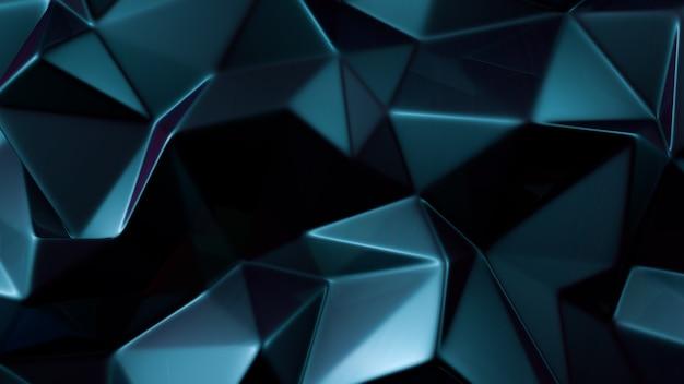 Blue crystal background. 3d illustration, 3d rendering.