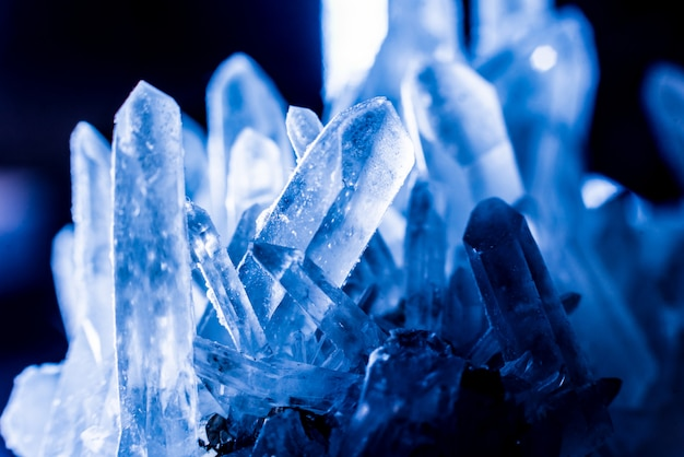 Blue crystal texture.
