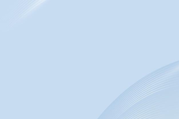 디자인 공간을 가진 파란 곡선 추상적 인 배경