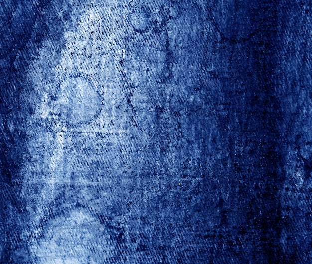 Blue dark oil paint abstract background