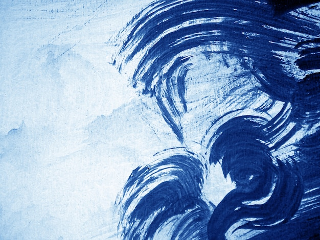 Blue dark oil paint abstract background.
