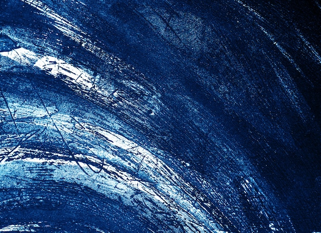 Blue dark and white brush  stroke texture abstract background.